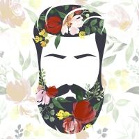 Servietten 33x33 cm - Beard n flowers