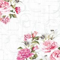 Servietten 33x33 cm - Rose letters
