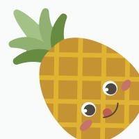 Gestanzte Servietten - Silhouettes Pineapple