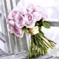 Servietten 33x33 cm - Pink romance