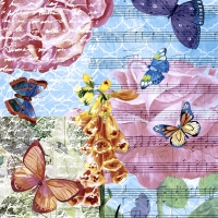 Servietten 33x33 cm - Musical garden