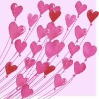 Servietten 24x24 cm - Love