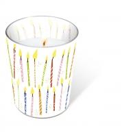 Glaskerze - B-day candles