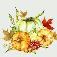 Servietten 33x33 cm - Watercolor pumpkins
