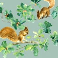 Servietten 33x33 cm - Squirrels