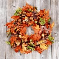 Servietten 24x24 cm - Leaf wreath
