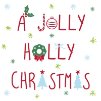 Servietten 33x33 cm - Jolly Holly