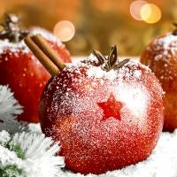 Servietten 33x33 cm - Christmas Apples