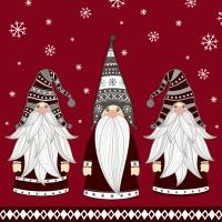 Servietten 33x33 cm - Gnomes