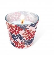 Glaskerze - Rowan berries