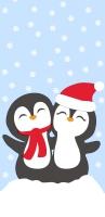 Taschentücher - Penguin Santas