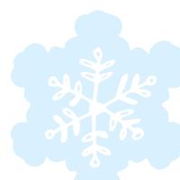 Gestanzte Servietten - Silhouettes Snowflake