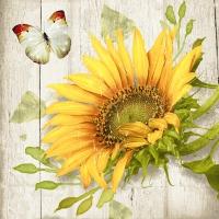 Servietten 25x25 cm - Vintage sunflower