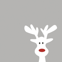 Servietten 24x24 cm - Elk parade