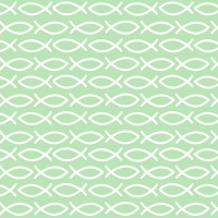 Servietten 33x33 cm - Religious green