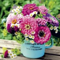Servietten 33x33 cm - Bouquet de jardin