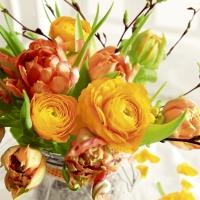 Servietten 33x33 cm - Spring bouquet