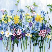 Servietten 33x33 cm - Spring flowers