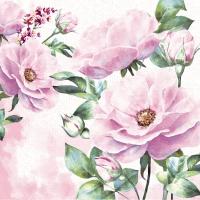 Servietten 33x33 cm - Rose garden