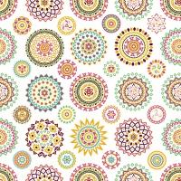 Servietten 33x33 cm - Colourful rosettes