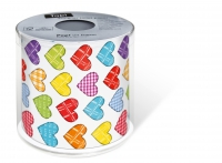 bedrucktes Toilettenpapier - Topi Colourful hearts