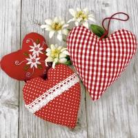 Servietten 33x33 cm - Bavarian hearts