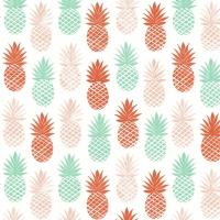 Servietten 33x33 cm - Pinappel pattern