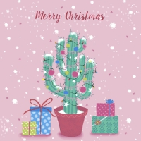 Servietten 33x33 cm - Decorated cactus