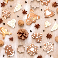 Servietten 24x24 cm - Christmas cookies