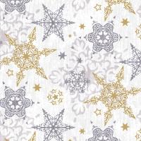 Servietten 24x24 cm - Delicate stars silver