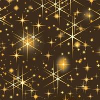 Servietten 24x24 cm - Glittering stars