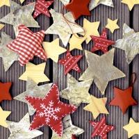 Servietten 33x33 cm - Handmade stars
