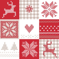 Servietten 33x33 cm - Winter patch