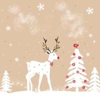 Servietten 33x33 cm - Cute deer