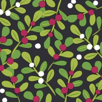 Servietten 33x33 cm - Joyful holly