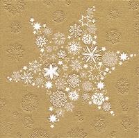 Servietten 33x33 cm - Moments My Xmas star gold