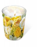 Glaskerze - Glaskerze Bouquet of roses