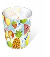 Glaskerze - Glaskerze Tropical fruits