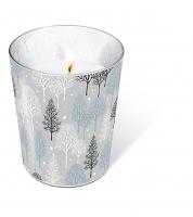 Glaskerze - Winter trees