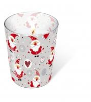 Glaskerze - Funny Santas