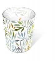 Glaskerze - Willow leaves