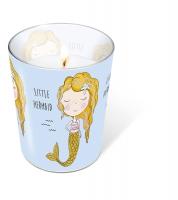 Glaskerze - Glaskerze Little mermaid