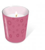 Glaskerze - Moments uni pink