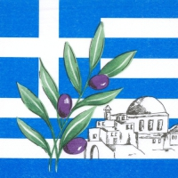 50 Servietten 33x33 cm - Greece