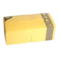 250 Servietten 33x33 cm 1/8 Falz - gelb