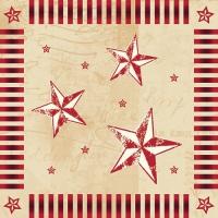 100 Servietten 33x33 cm - Star Shine