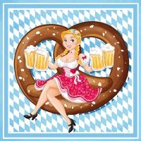 100 Servietten 33x33 cm - Bavarian Comic