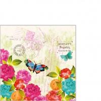 Servietten 25x25 cm - Spring Letter