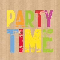 Servietten 25x25 cm - Party Time