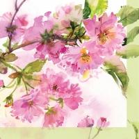 Servietten 25x25 cm - Rosa Kirschblütecm